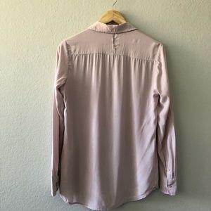 Equipment Tops - Equipment blush pink silk button front blouse S